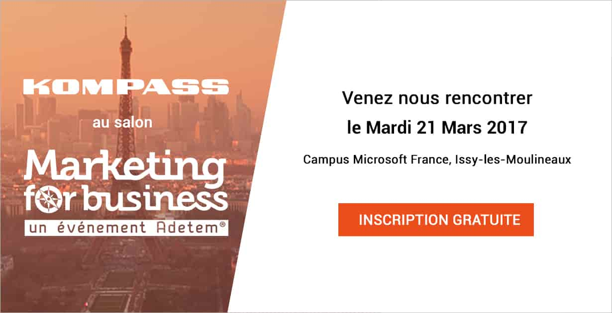 Kompass partenaire du salon Marketing For Business