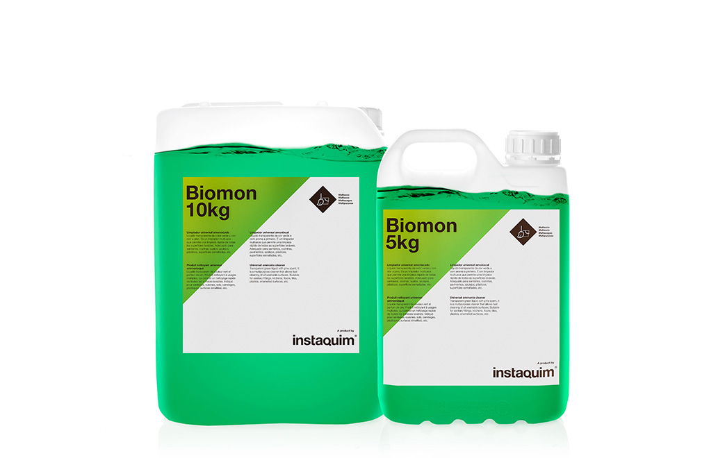 Biomon, limpiador universal amoniacado.