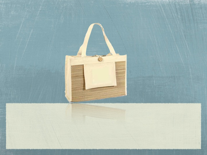 Recycled Organic Cotton Spa Tote Bag