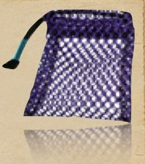 Cotton Mesh Cosmetic Drawstring Pouch