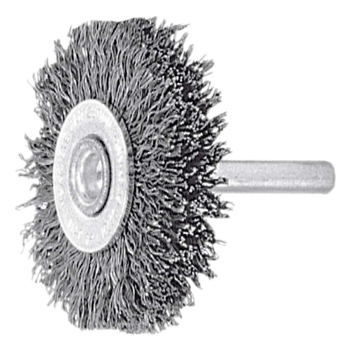 Cepillo circular con mango alambre de acero, latonado