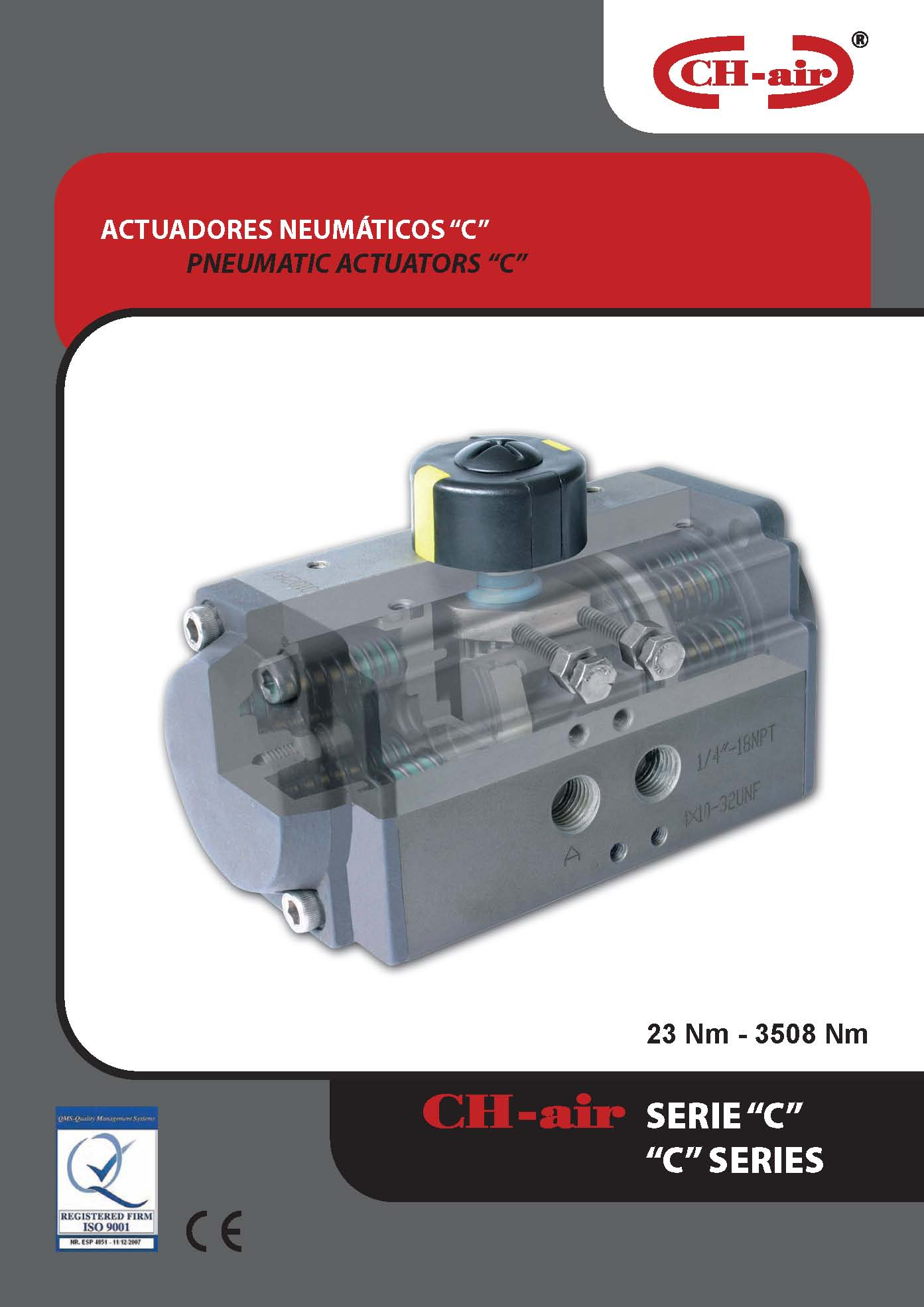 Actuadores neumáticos serie c