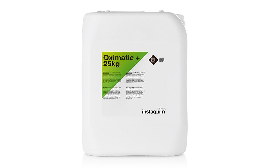 Oximatic+, blanqueante enérgico para lavado automático.