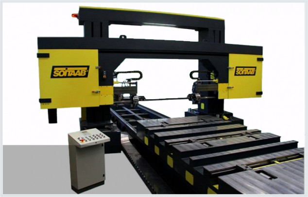 Soitaab GANTRY TM horizontal non-ferrous bandsaw machine