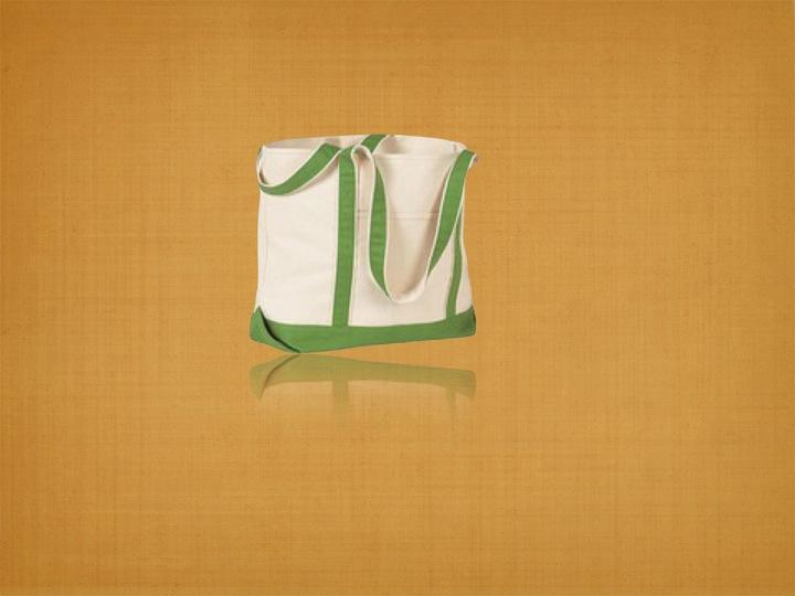Organic Canvas Beach Bag