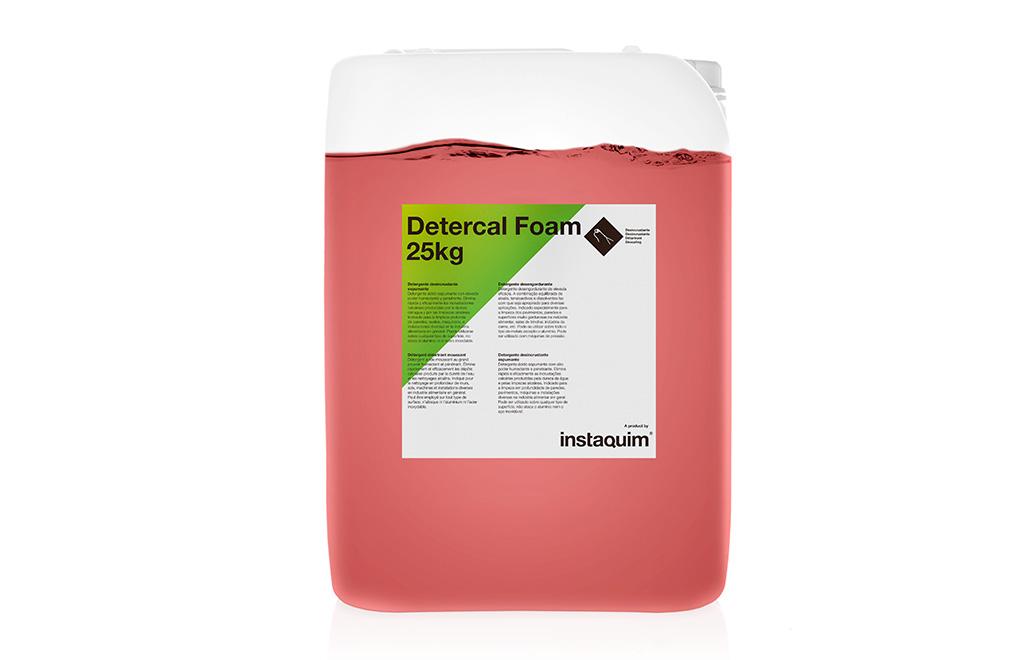 Detercal Foam, detergente desincrustante espumante.