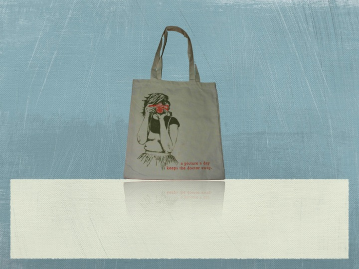Recycled Organic Canvas Magazine Tote