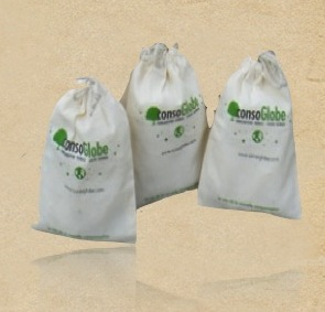 Recycled Organic Canvas Cosmetic Promotional Gift Bag