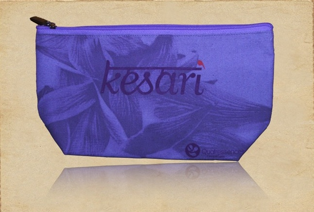 Recycled Organic Canvas Cosmetic Case with Zip