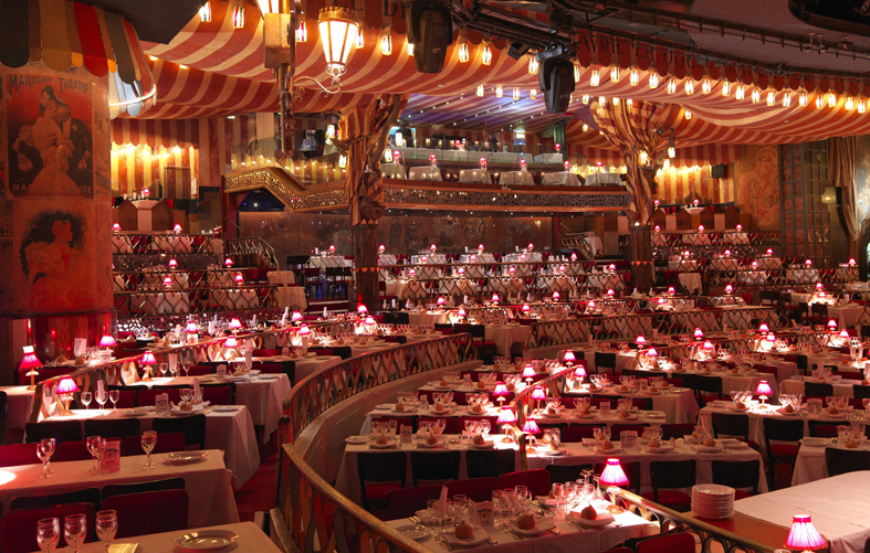 La célèbre salle mythique du Moulin Rouge