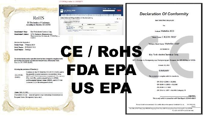 CE / FDA / US EPA Certifications