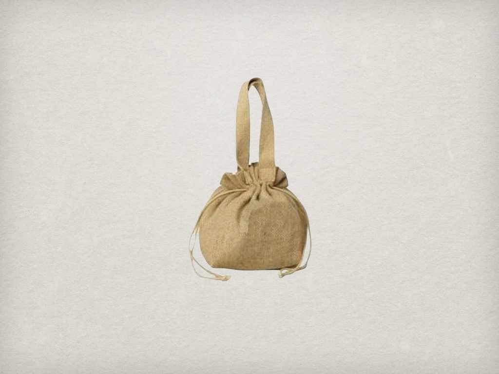 Fashion Recycled Organic Canvas drawstring bag
