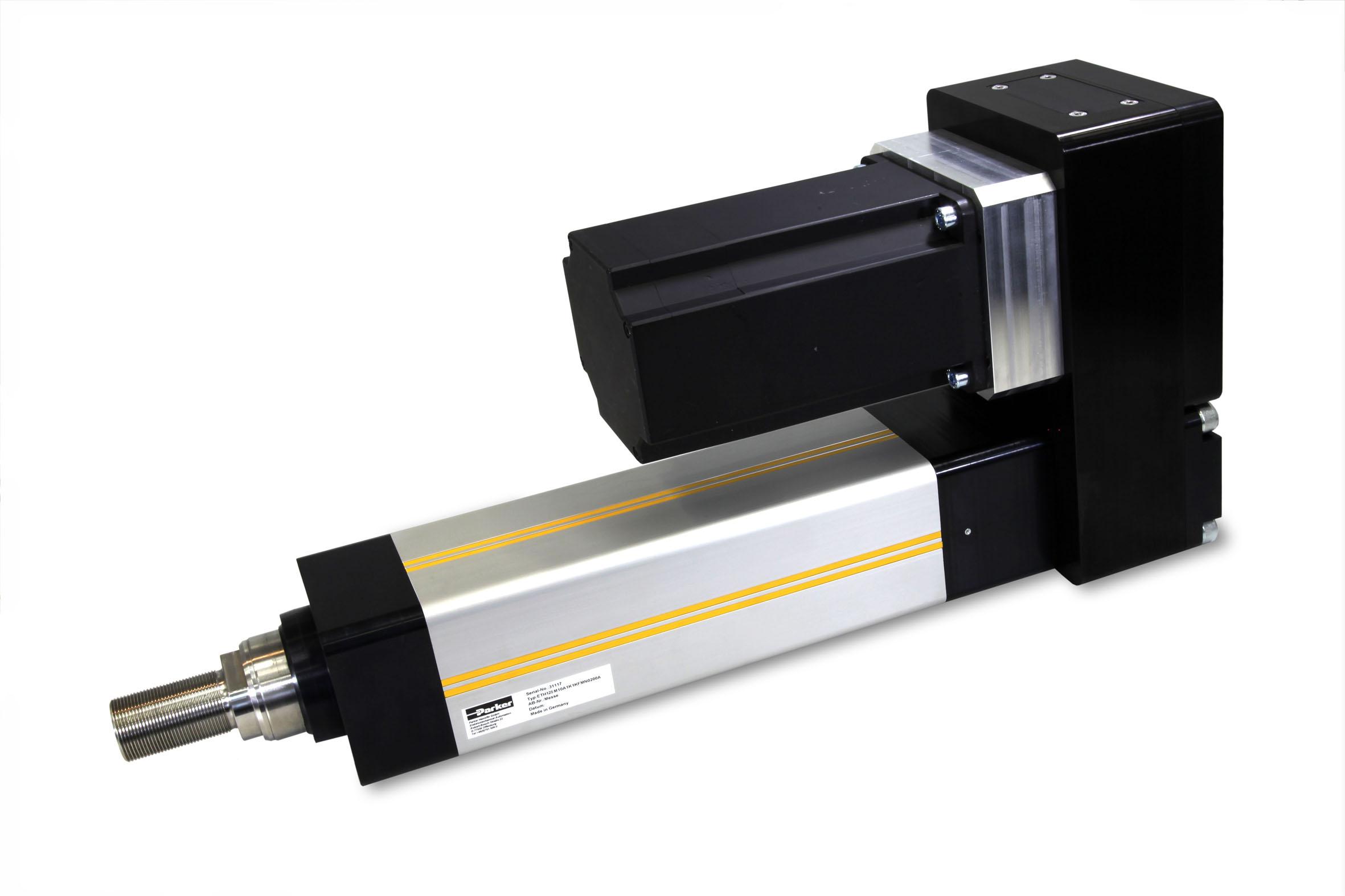Parker estende la sua gamma di elettrocilindri ETH -  ETH125 con forze di spinta fino a 114000 N