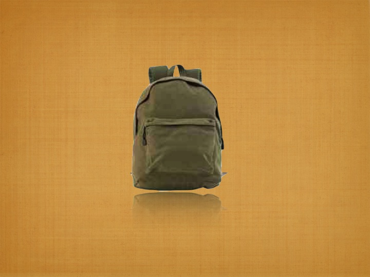 Recycled Organic Canvas Library Backpack