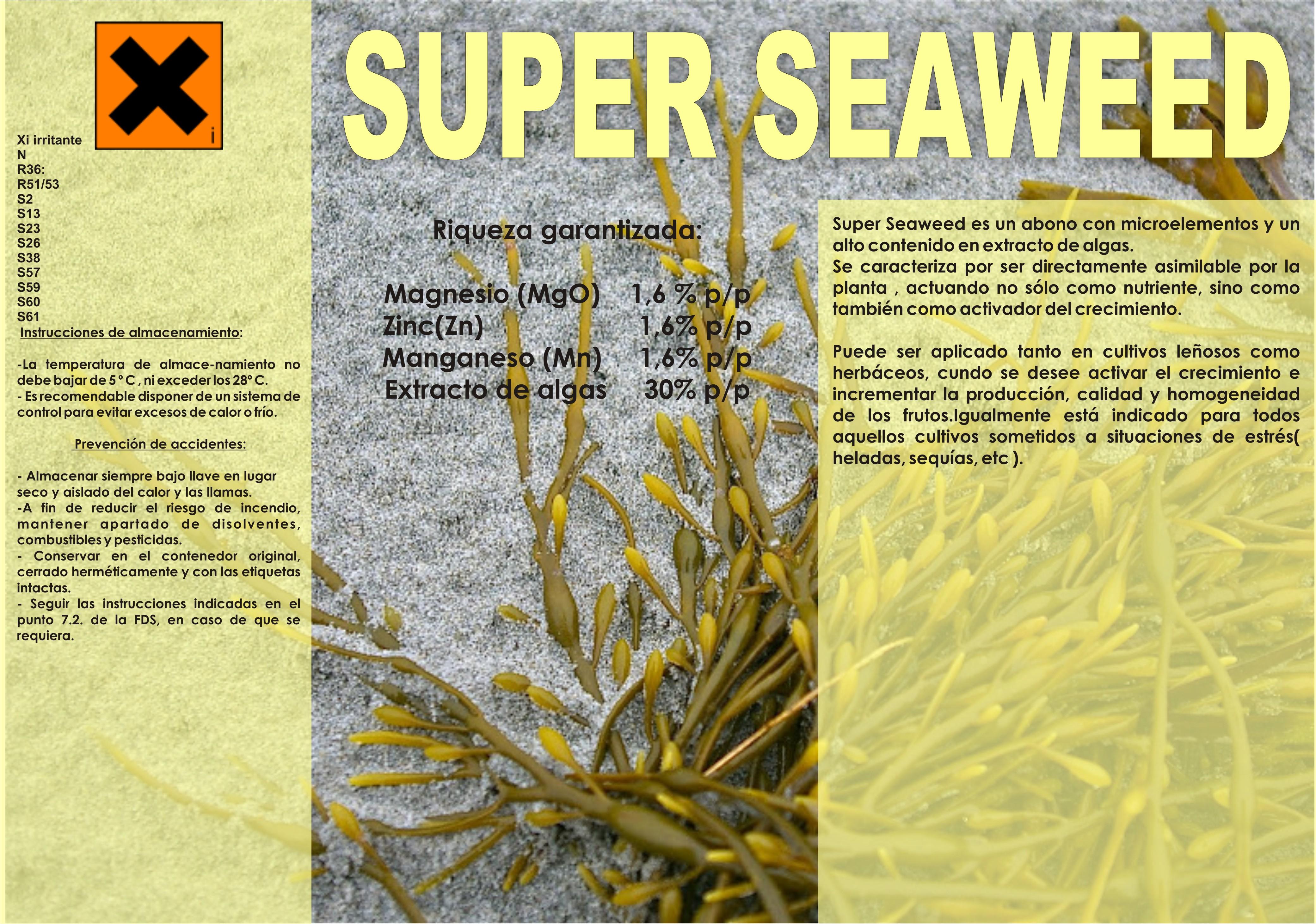 SUPER SEAWEED/ Promotor de crecimiento