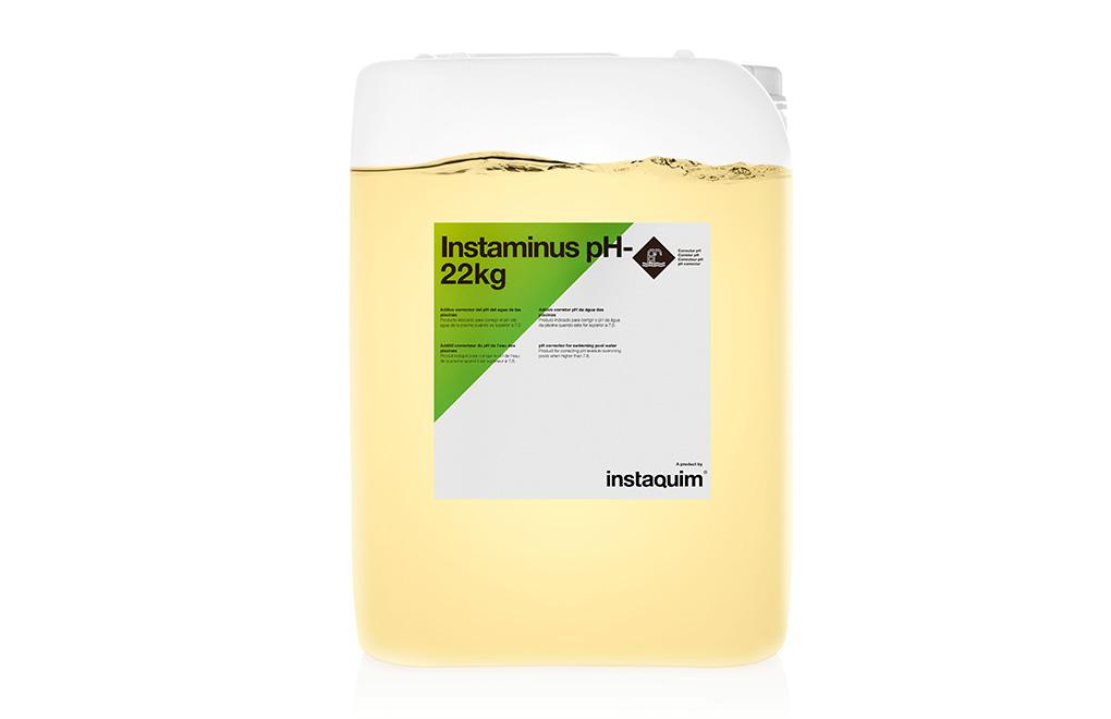 Instaminus, aditivo corrector de pH del agua de las piscinas.