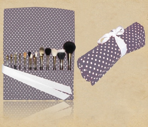 Canvas Cosmetic Brush Bag