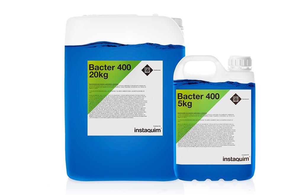 Bacter 400, desinfectante con amonios cuaternarios y aldehídos.
