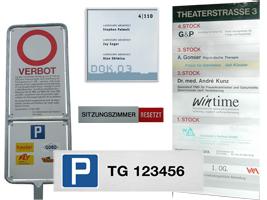 WUWI Beschriftungen und Verkehrsschilder