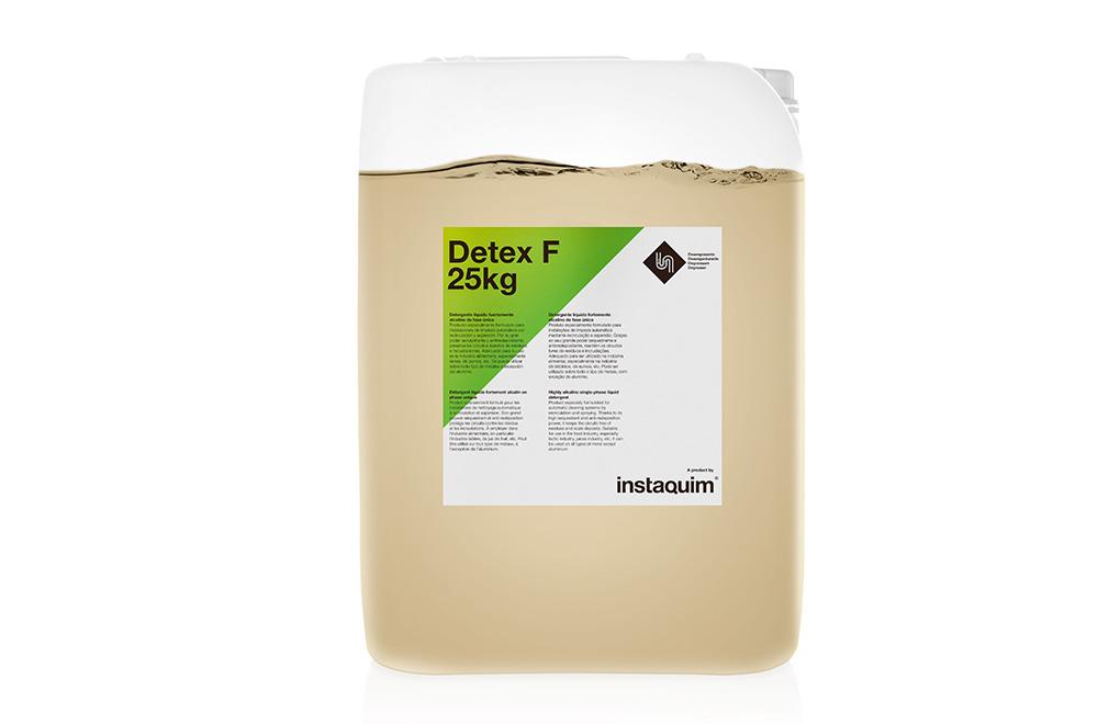 Detex F, detergente líquido fuertamente alcalino de fase única.