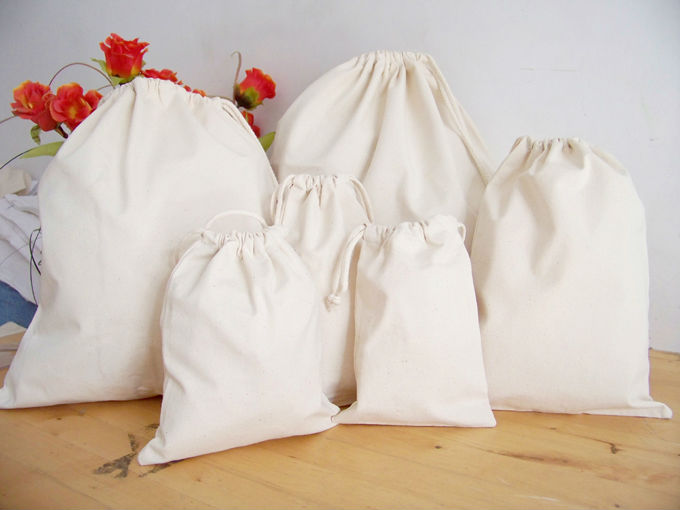 Cotton Canvas Drawstring Bags