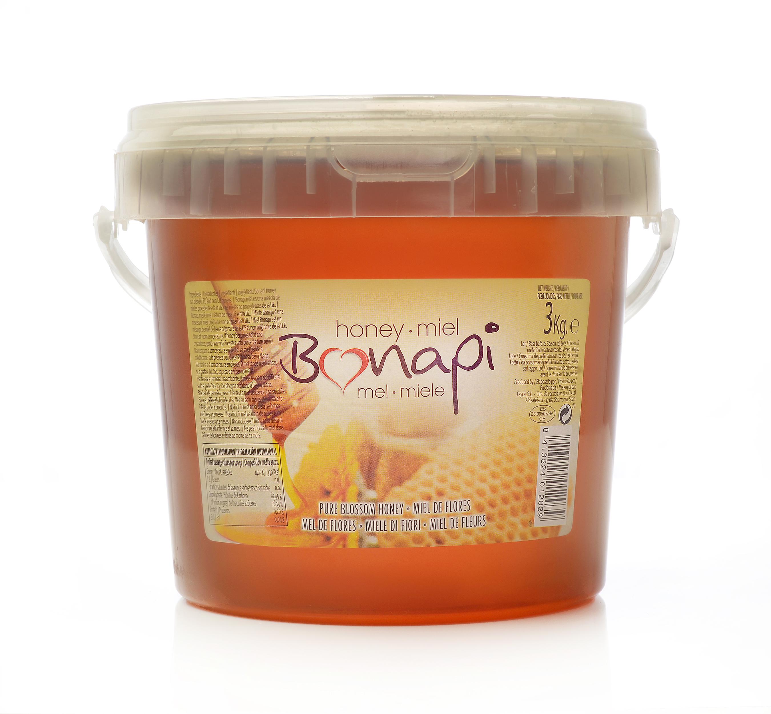 """Cubo 3kg Miel de Flores """"Bonapi"""""""