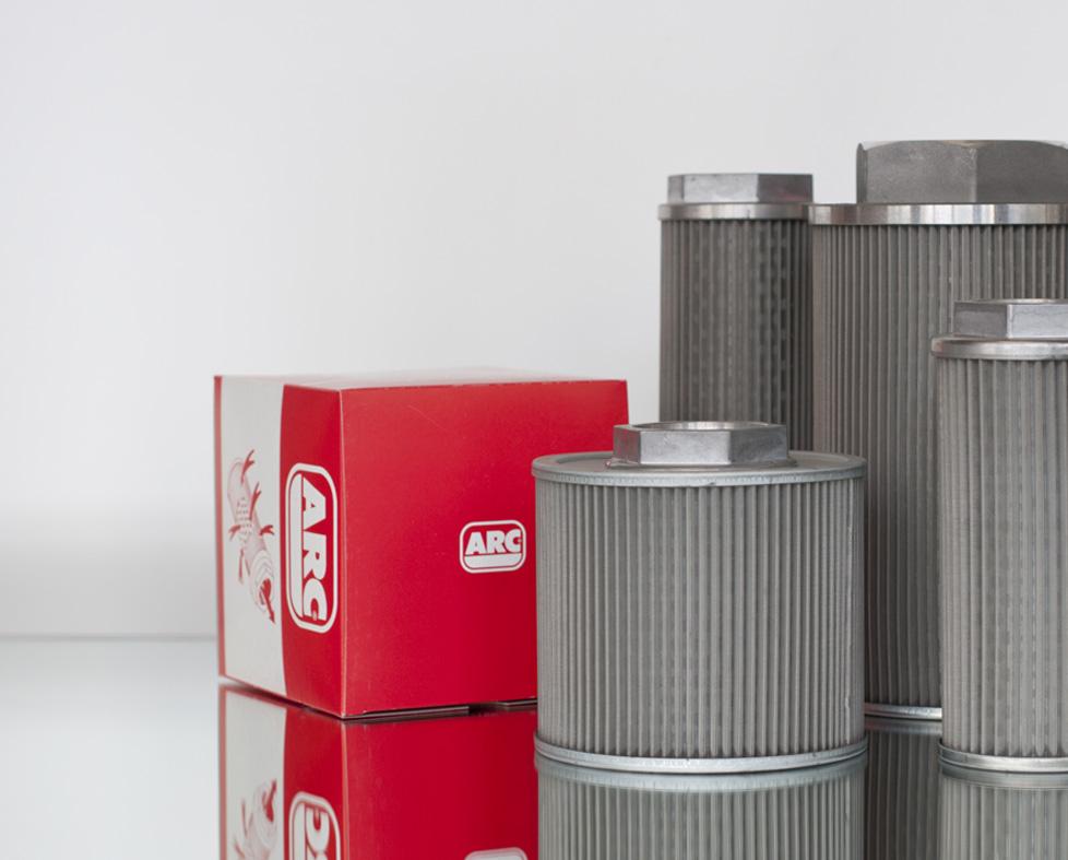 Recambio elementos de filtros hidráulicos. Filtros ARC.