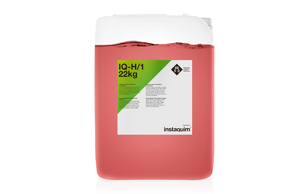 IQ-H/1, limpiador ácido de sanitarios concetrado.