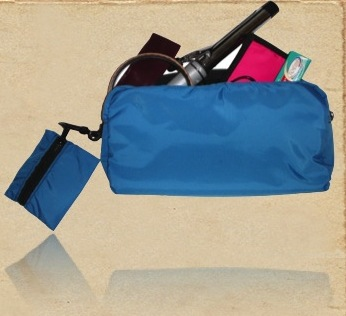 Recycled Cotton Cosmetic Folding Bag