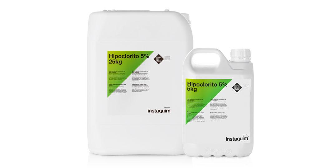 Hipoclorito 5%, lejia apta para la desinfección de agua de bebida.