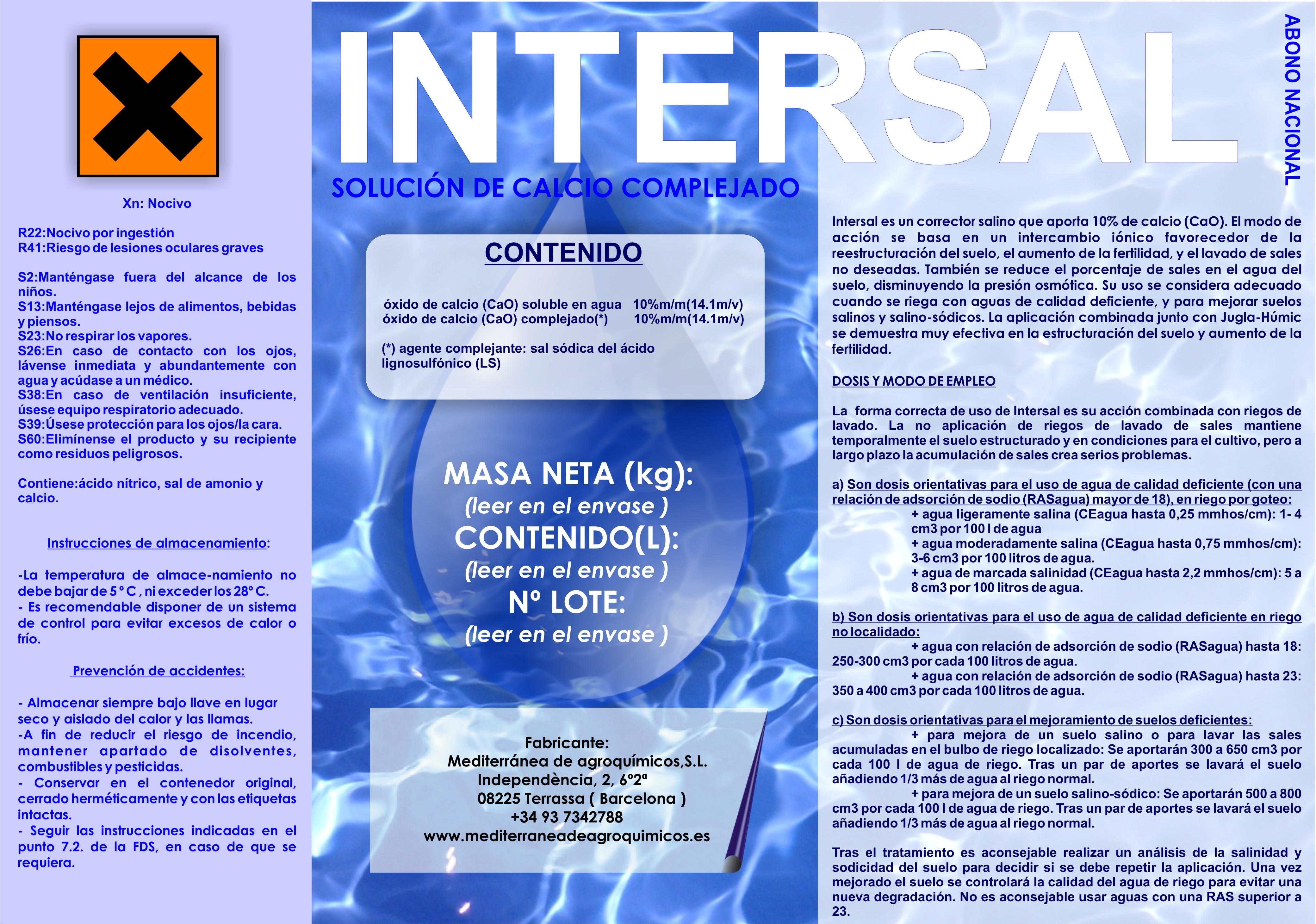 INTERSAL/ Corrector salino