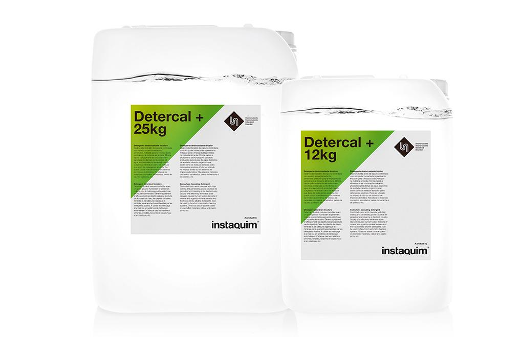 Detercal +, detergente desincrustante incolora.