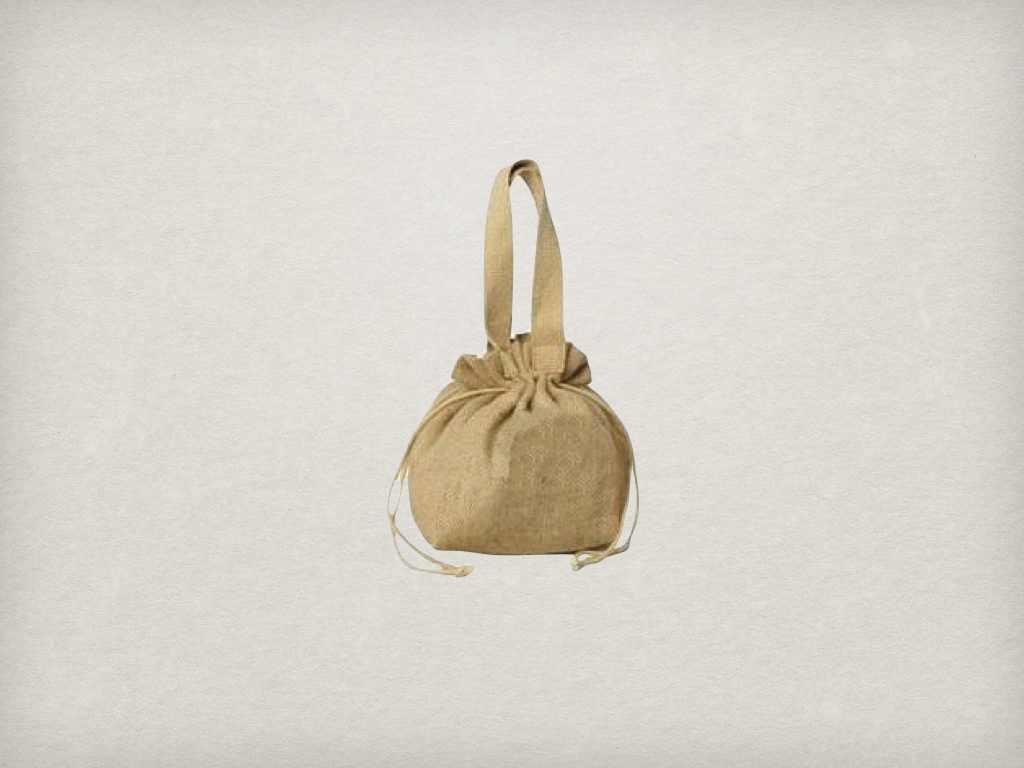 Fashion Recycled Canvas drawstring bag