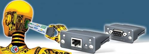 Módulos de comunicación embebidos con salida a bus de campo: módulos Plug-in intercambiables. HMS (Anybus) CompactCom