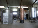 Alambic type charentais pour la production de Brandy