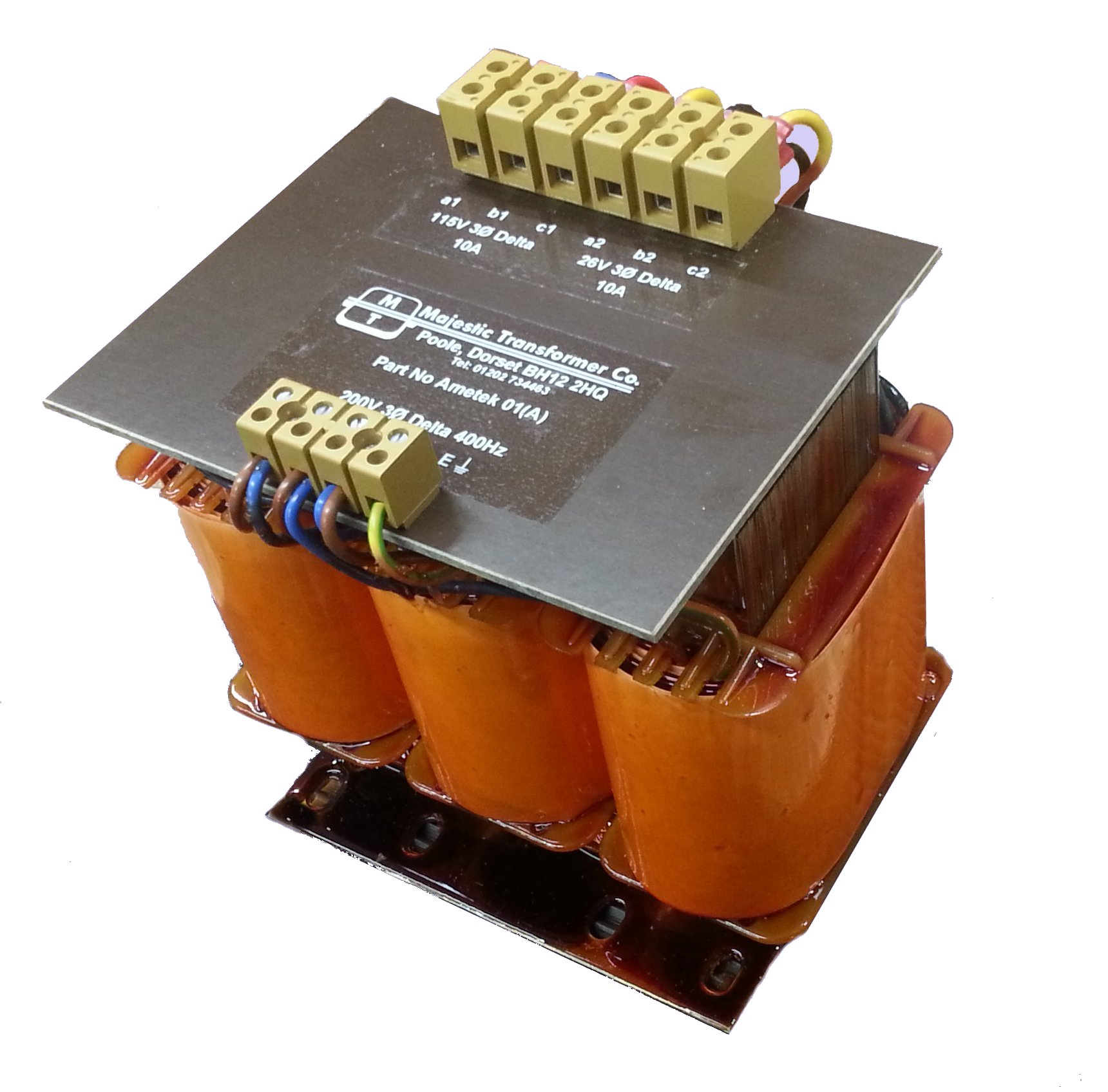 Three Phase Control Panel Transformers