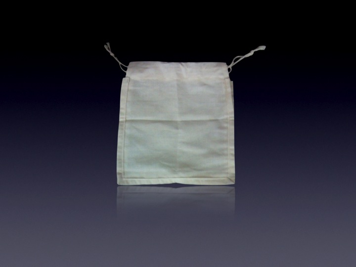 Recycled Organic Canvas Drawstring Pouch