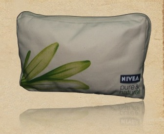 Recycled Canvas Cosmetic Pouch
