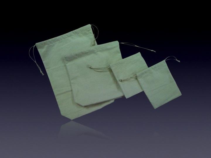Cotton Fleeced Drawstring Bag