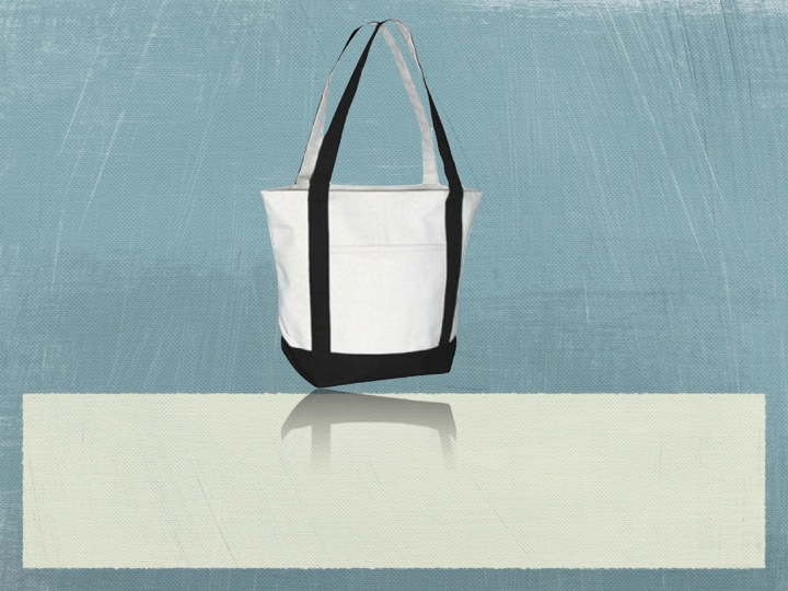 Recycled Organic Cotton Standard Boat Bag