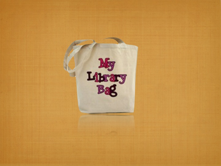 Recycled Organic Canvas Library Bag