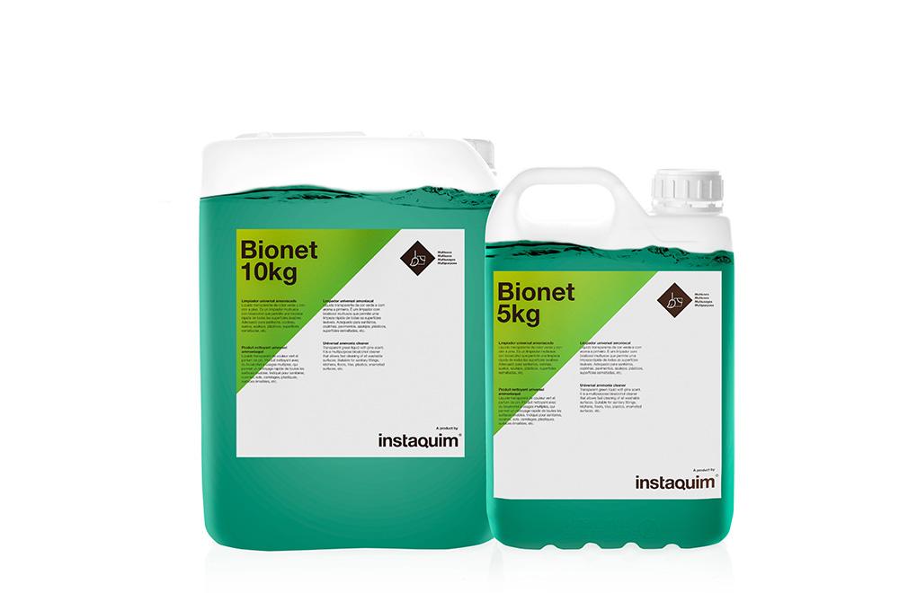 Bionet, limpiador universal amoniacado.