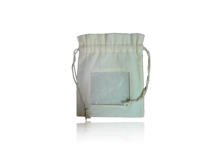 Organic Cotton Eco Friendly Pouch With Window