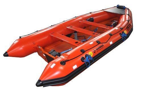 Narwhal SV-420 semi-rigid inflatable MOB boat