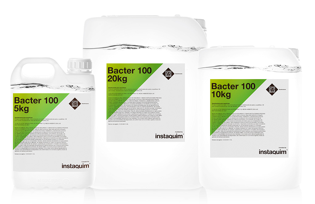 Bacter 100, desinfectante para superficies.