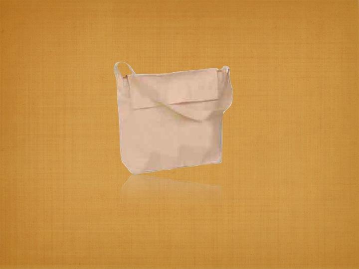 Organic Canvas Book Bag