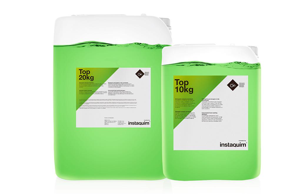 Top, detergente manual concentrado.