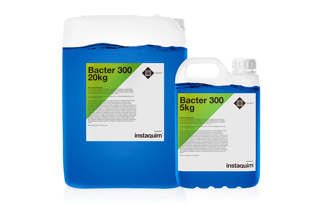 Bacter 300, detergente desinfectante.