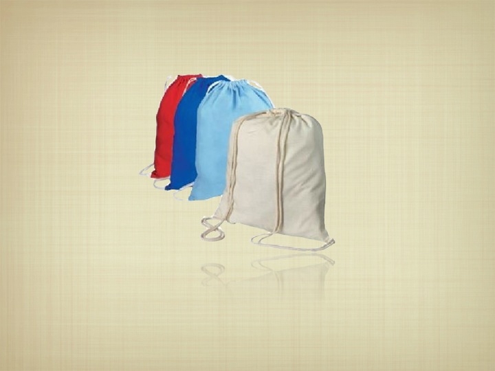 Recycled Organic Cotton Drawstring Bag