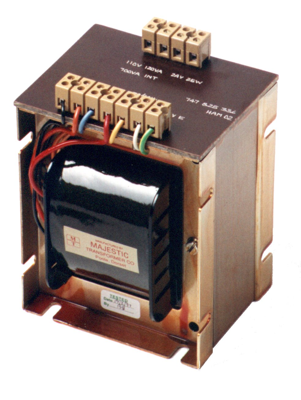 Single Phase Control Panel Transformers
